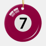 Ornamento de la bola de piscina del número siete - ornamentos de navidad