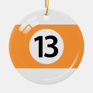 Ornamento de la bola de piscina del número trece - ornaments para arbol de navidad