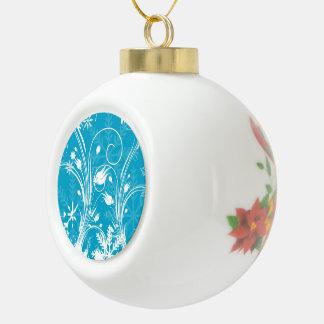 Ornamento de la bola del navidad de la nieve del i adorno de cerámica en forma de bola
