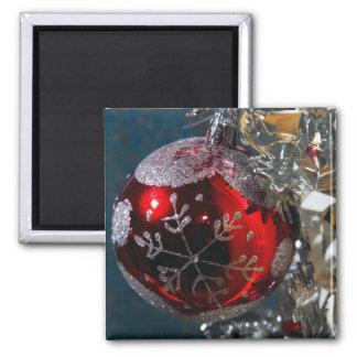 Ornamento de la bola del navidad imanes para frigoríficos