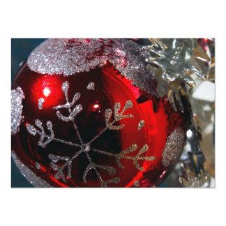 """Ornamento de la bola del navidad invitación 5.5"""" x 7.5"""""""