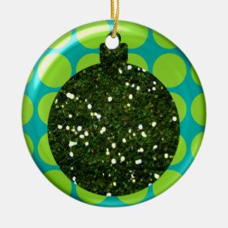 Ornamento de la bola del ornamento del navidad adorno redondo de cerámica