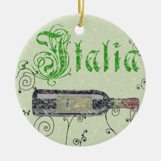 Ornamento de la botella de vino de Italia Ornatos