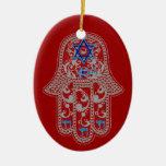 Ornamento de la buena fortuna de Hamsa Ornamentos De Reyes Magos