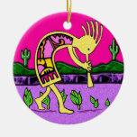 Ornamento de la buena suerte de Kokopelli Ornamentos De Navidad