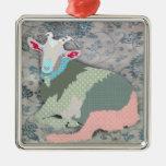 Ornamento de la cabra de los remiendos adorno