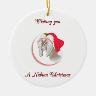 Ornamento de la cabra del navidad de Nubian Ornamentos De Reyes