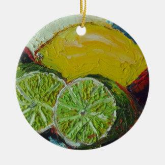 Ornamento de la cal del limón ornamentos de reyes