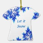 Ornamento de la camisa de la nieve ornamento para arbol de navidad