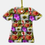Ornamento de la camisa del collage de la flor ornamentos para reyes magos