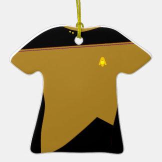 Ornamento de la camisa del oro de MoonBase Adornos