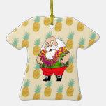 Ornamento de la camisa hawaiana de Papá Noel Ornamentos De Reyes Magos