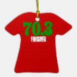 ornamento de la camiseta de 70,3 acabadoras adornos de navidad