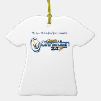 ornamento de la camiseta de ClassicChristian247.co Ornamentos De Navidad