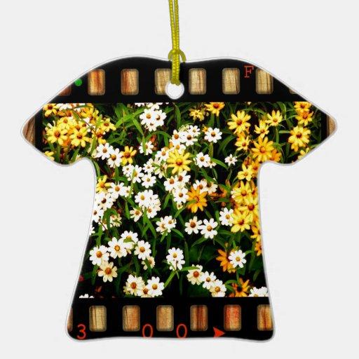 Ornamento de la camiseta de la diapositiva de 35 adorno navideño de cerámica en forma de playera