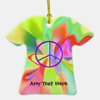 Ornamento de la camiseta de la paz del Hippie Ornamentos De Navidad
