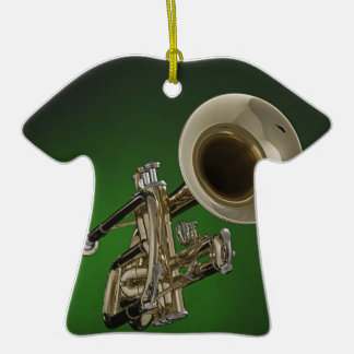 Ornamento de la camiseta de la trompeta ornamentos de reyes