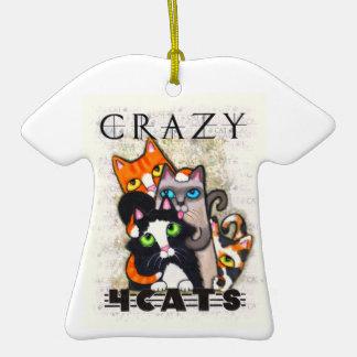 Ornamento de la camiseta del amante del gato ornamento de reyes magos