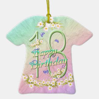 Ornamento de la camiseta del arco iris de 18 cumpl ornamentos de reyes magos