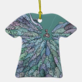 Ornamento de la camiseta del frenesí de la adorno de cerámica en forma de playera