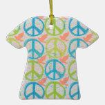 Ornamento de la camiseta del signo de la paz # 2 ornamento para reyes magos