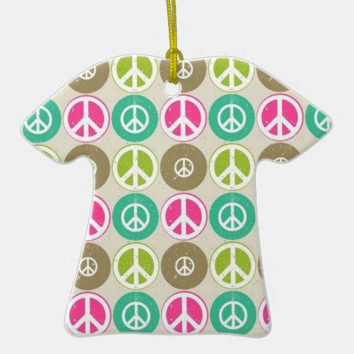 Ornamento de la camiseta del signo de la paz adorno de reyes