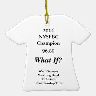 Ornamento de la camiseta para la banda 2014 de adorno de cerámica en forma de playera