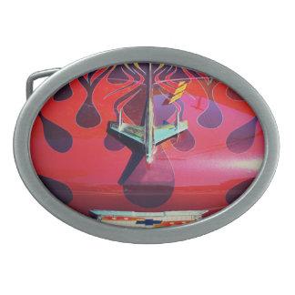 Ornamento de la capilla de Chevy del vintage Hebilla Cinturón Oval