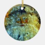 Ornamento de la cara de Santa Ornamento Para Arbol De Navidad