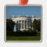 Ornamento de la Casa Blanca del navidad Ornatos