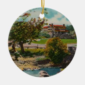 Ornamento de la casa de campo del juego del parque adornos