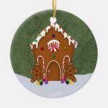 Ornamento de la casa de pan de jengibre ornamento para arbol de navidad