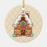 Ornamento de la casa de pan de jengibre adorno de reyes
