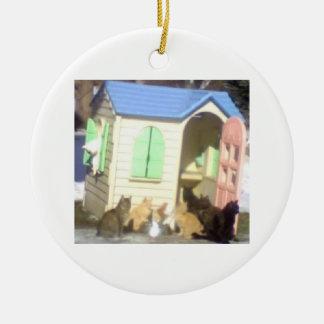Ornamento de la casa del gato de DNatureofDTrain r Ornamentos Para Reyes Magos