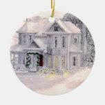 Ornamento de la casa del Victorian del navidad