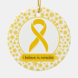 Ornamento de la cinta del oro del cáncer de la adorno redondo de cerámica