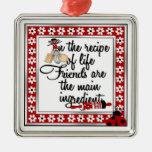 Ornamento de la cocina del amigo ornamento de navidad
