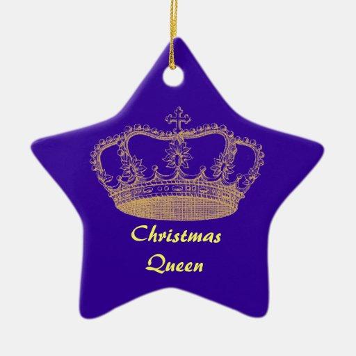 Ornamento de la corona del oro adornos de navidad