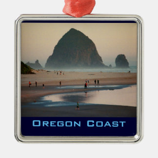 Ornamento de la costa de Oregon Adorno Navideño Cuadrado De Metal