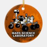 Ornamento de la curiosidad del laboratorio de cien adorno de navidad
