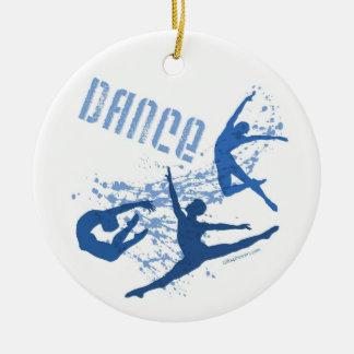 Ornamento de la danza (personalizable) adorno redondo de cerámica