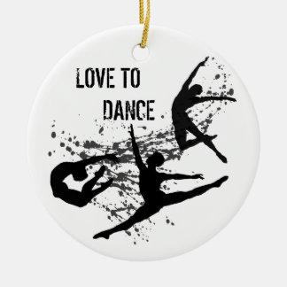 Ornamento de la danza (personalizable) ornamento de navidad
