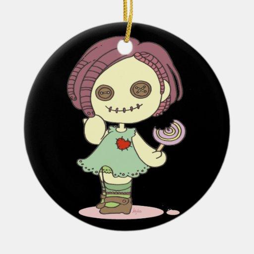 Ornamento de la decoración de Halloween de la Adorno Navideño Redondo De Cerámica