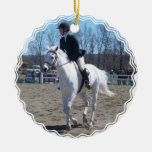 Ornamento de la demostración del caballo ornamentos para reyes magos