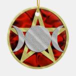 Ornamento de la diosa del triple del Pentagram de  Ornamento Para Arbol De Navidad