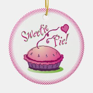 Ornamento de la empanada del Sweetie Ornamento Para Arbol De Navidad