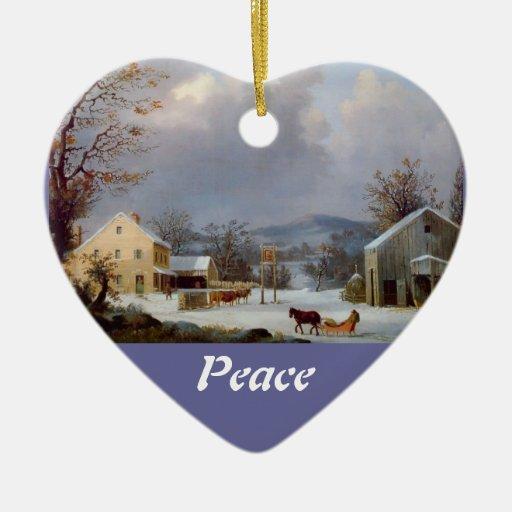 Ornamento de la escena/de la paz del invierno adornos de navidad