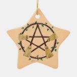 Ornamento de la escoba de Yule Ornamento De Reyes Magos