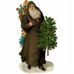 Ornamento de la escultura de Papá Noel del vintage Adorno Fotoescultura