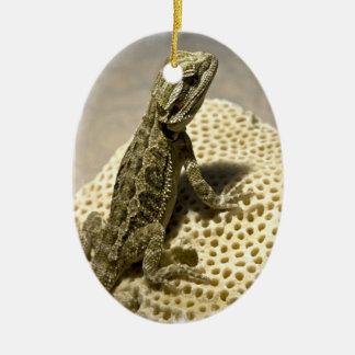 Ornamento de la especie del lagarto ornamento de navidad